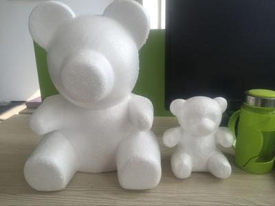 厂家直销泡沫小熊白胚DIY创意手工插花材料情人节玫瑰花熊抱玩具
