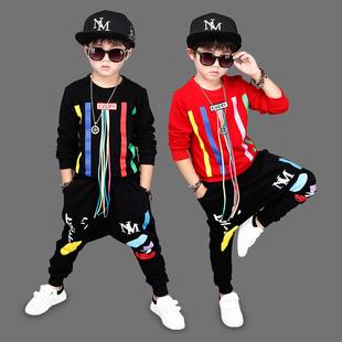 男童装5春秋天6小男孩子7卫衣8韩版休闲套装9儿童春季衣服装9岁潮