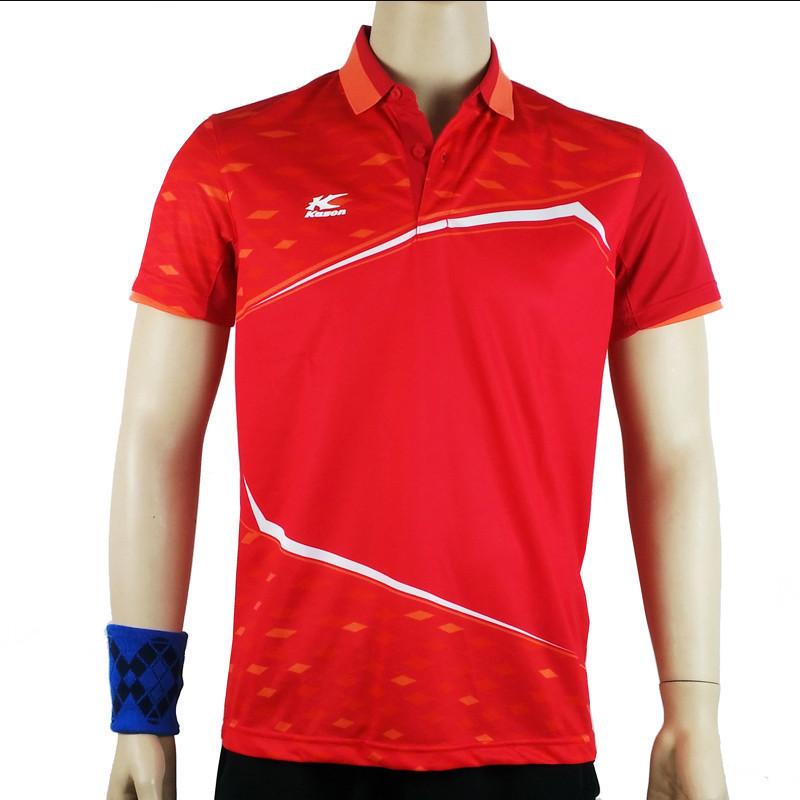 凯胜短袖男夏季翻领吸汗POLO衫羽毛球服比赛上衣FAYK007 QG