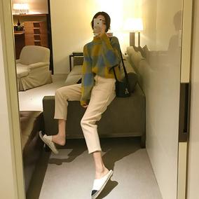 新款俏皮成熟毛呢裤子小香风港味女神套装气质网红毛衣时尚两件套