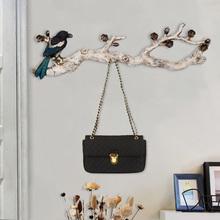 美式装饰小鸟挂钩壁挂创意门口墙上挂衣架艺术复古墙壁玄关衣帽钩