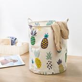 北欧布艺折叠防水收纳桶脏衣篮放衣服框收纳筐家用玩具洗衣脏衣篓图片