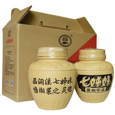 洞溪七姊妹辣椒550g*2罐禮盒裝 張家界特產 剁辣椒 辣椒醬 剁椒