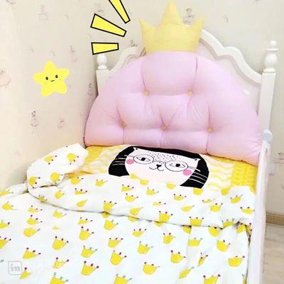 韩式公主皇冠大靠背冬季宝宝靠垫儿童榻榻米床头软包靠枕含芯拆洗品牌巨惠