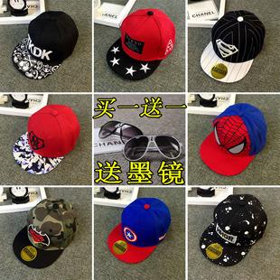韩版儿童棒球帽遮阳帽夏宝宝帽子春秋男童女童薄款鸭舌帽太阳帽潮