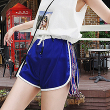 Ins super-hot sports shorts with high waist and wide legs and hot pants for female summer leisure students