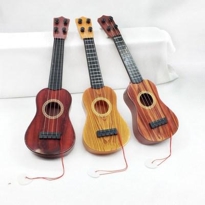 21寸木质可弹奏初学儿童小吉他男女孩 尤克里里四弦乐器吉他玩具品牌巨惠