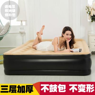 充气床豪华双层加高充气床垫双人气垫床单人加厚家用冲气床打气哪个牌子好
