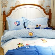 米1.5件套4卡通床单被套儿童磨毛1.8m加厚四件套