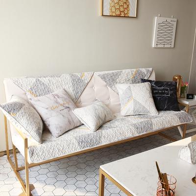 创意大理石北欧时尚沙发垫全棉布艺组合四季通用沙发巾防滑沙发套