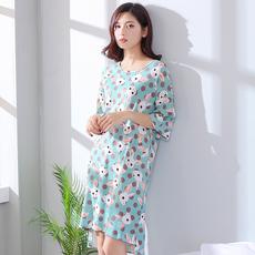 韩版可爱中长款睡衣
