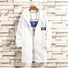 夏季男士防晒衣韩版潮流中长款风衣外套百搭超薄款透气上衣服帅气图片