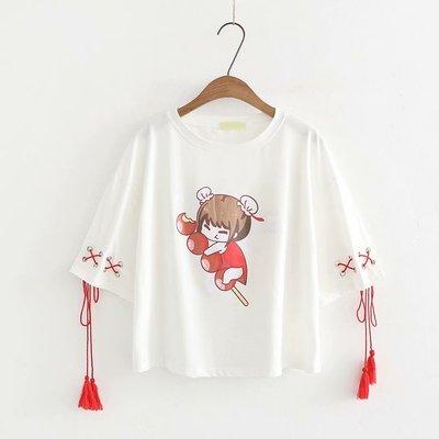 2018夏季新款日系女装小清新上衣夏天可爱女装森女系甜美短袖t恤
