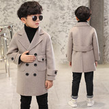 Children's boy spring and autumn coat coat 2019 new long section of the windy windbreaker in the big boy Korean version of the boy tide
