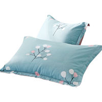 Gudie 100% cotton twill pillowcases Children's padded single cotton pillowcases for a pair of students