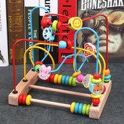 儿童绕珠益智玩具1-2-3周岁男孩婴儿一岁宝宝积木百宝箱早教串珠