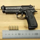 1:2.05全金属可拆卸抛壳拼装仿真儿童玩具手枪模型不可发射子弹1