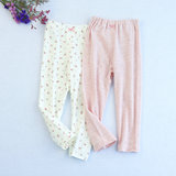 2 pieces of 3 pieces of non-fluorescent children's autumn clothes long trousers men and women baby cotton thin home parents leggings pajama pants
