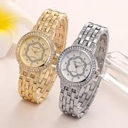 优雅气质奢华女士手表 表盘镶钻合金钢带手链 表 时尚休闲石英表