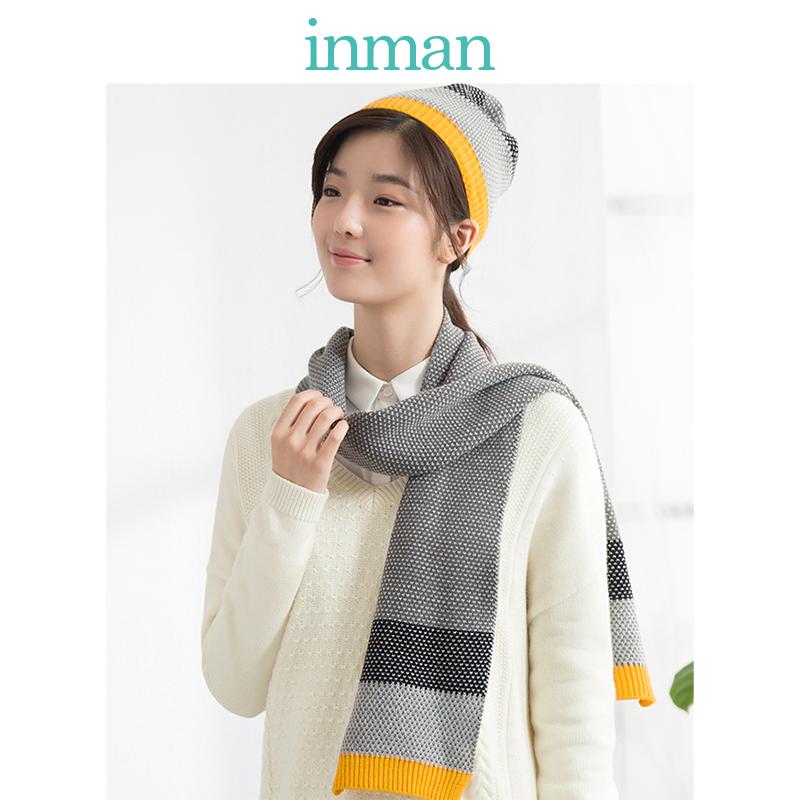 茵曼围巾帽子冬季女士套装毛线加厚保暖韩版百搭学生1864140144