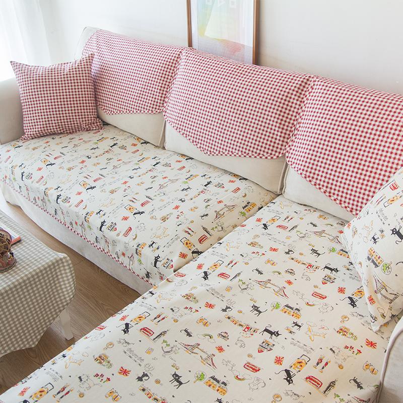 日式可爱沙发垫