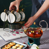 Coffee cup set European small luxury glass ceramic boiled fruit tea set English afternoon tea set