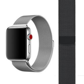 苹果手表表带apple iwatch2/3米兰尼斯不锈钢金属吸附表带38/42mm