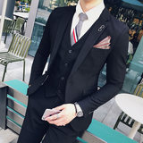 Professional business men's suit suit British wind Korean version of the self-cultivation casual wedding dress trend suit
