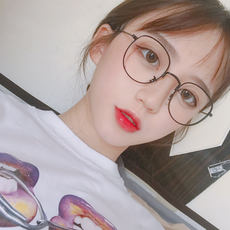 02c9dfad02 Ulzzang Korean version of the tide retro literary gold silk round glasses  frame female students cute