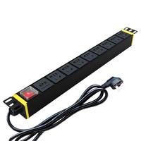 Three extension PDU cabinet socket 8 bit 16a industrial lightning protection PDU power GB GB hole rack TS8208