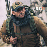 Outdoor scarf US 5.11 plaid pattern collar 89453 shawl military enthusiast dual-use windproof warm shawl