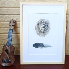 画框装裱实木质简易大相框挂墙4开24寸18 20 36八开k素描水彩装饰
