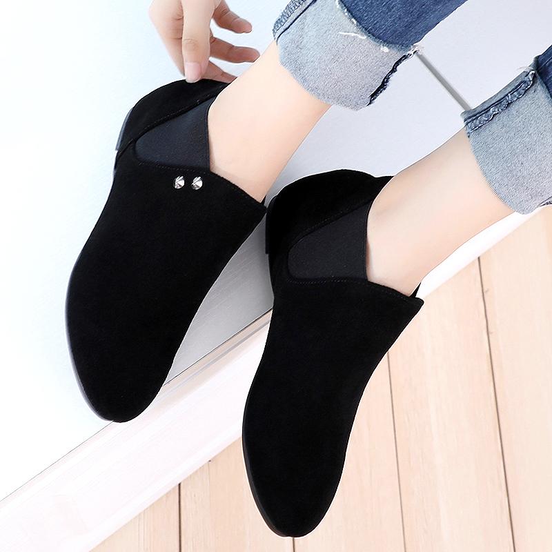 磨砂皮女鞋靴子大码