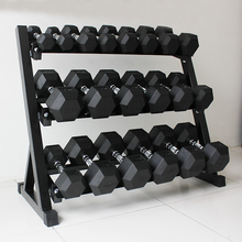 Yuxin Commercial Hexagonal Glue-coated Electroplated Environment-friendly Dumbbell Frame Full Set of Men's Chest and Arm Muscle Training Private Teaching Fitness Equipment