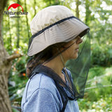 NH mover anti-mosquito hood fishing sunscreen mesh mask anti-bee bee hat fishing mountaineering net cover head mesh cap