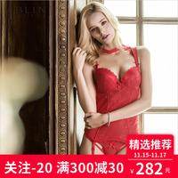【商场同款】eblin衣恋内衣红色本命年性感调整型功能塑身女