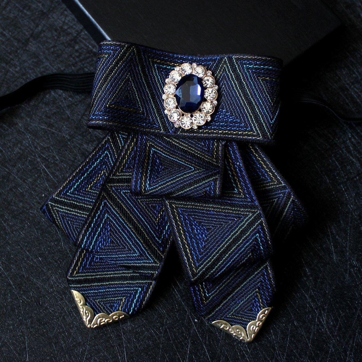 韩版男士领花发型师主持人夸张领结新郎伴郎结婚西装钻石领花领结