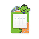Disney Disney hulk toggle switch wall stickers decoration with marvel cartoon cute with luminous