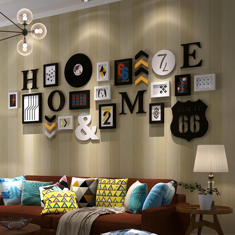 照片墙 相框墙简约现代 一面墙创意相框挂墙组合 客厅卧室相片墙3元优惠券