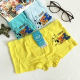 2 pairs of Modal boys underwear, pure cotton cartoon printed children's flat pants, cotton children's shorts and teenagers
