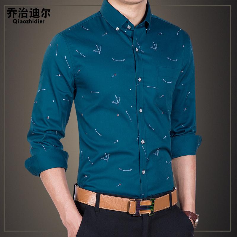 印花韩版衬衣