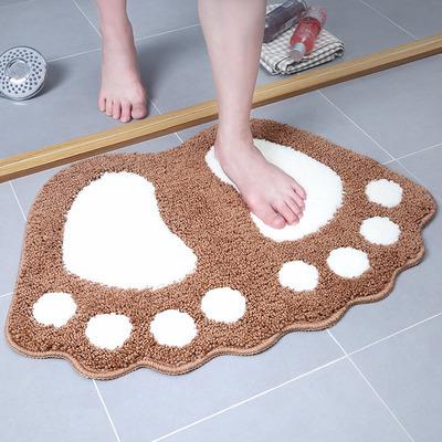 可爱大脚丫地垫门垫 卫生间浴室防滑垫厨房吸水地毯 卧室卡通脚垫网店网址