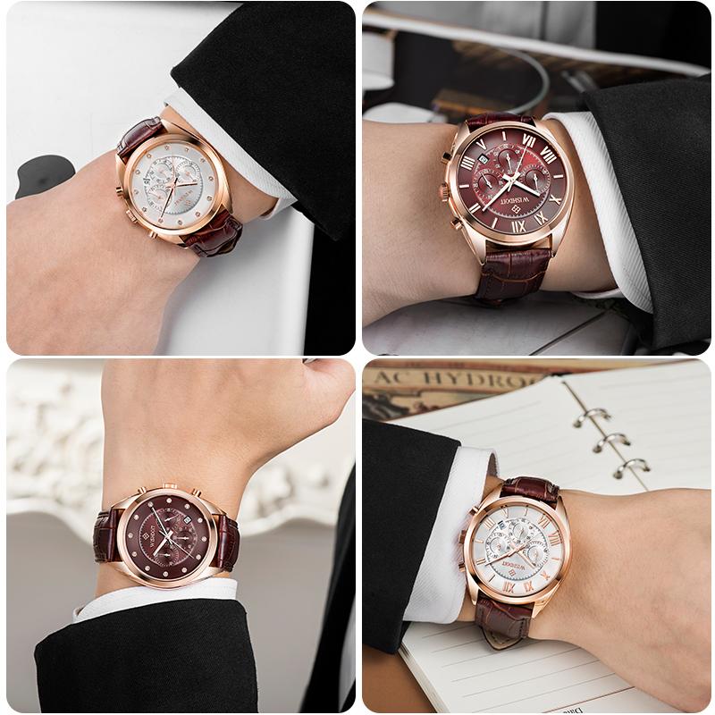 正品手表男 防水皮带学生时尚潮流男式腕表运动休闲石英男士手表