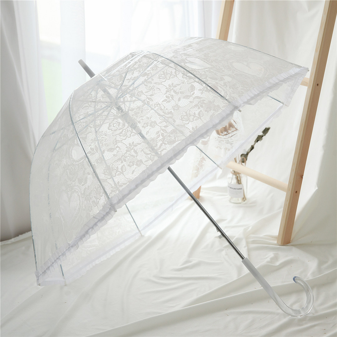 黑色蕾丝雨伞