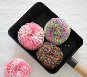 马卡龙纤维清洁球 用于不粘锅烘焙模具陶瓷环保无损清洁可批