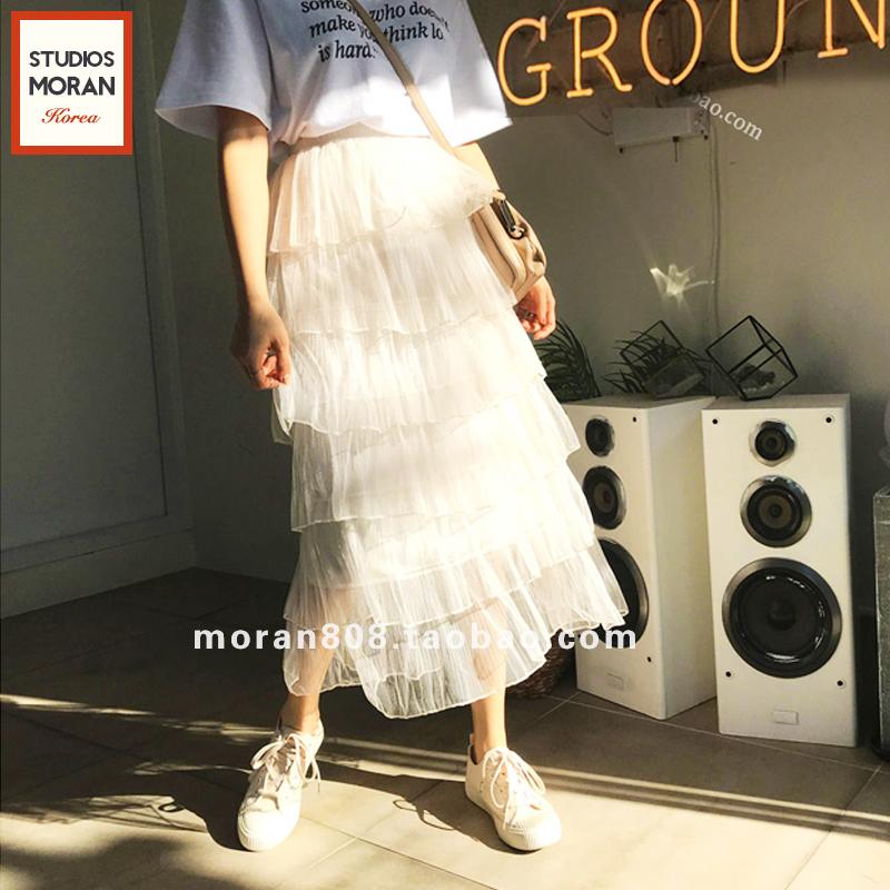韩国蕾丝半裙