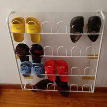 特价门后墙上挂式铁艺鞋架浴室卫生间转角收纳客厅六层拖鞋架子挂