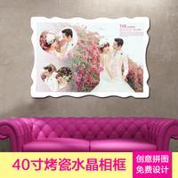 水晶婚纱照放大相框欧式挂墙创意摆台定做洗照片加结婚相片式韩版