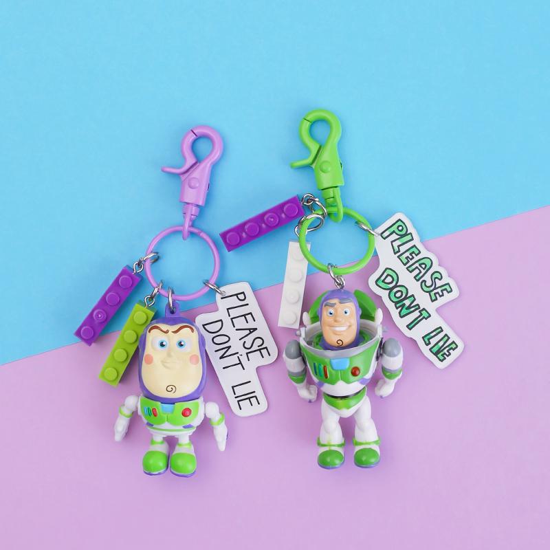 玩具总动员钥匙扣胡迪巴斯光年翠丝迪士尼漫威挂件钥匙链卡通公仔