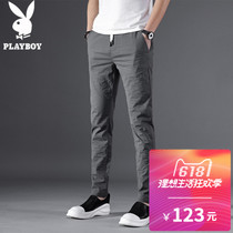 花花公子男士牛仔裤春夏季直筒修身弹力男裤青年商务宽松款长裤子